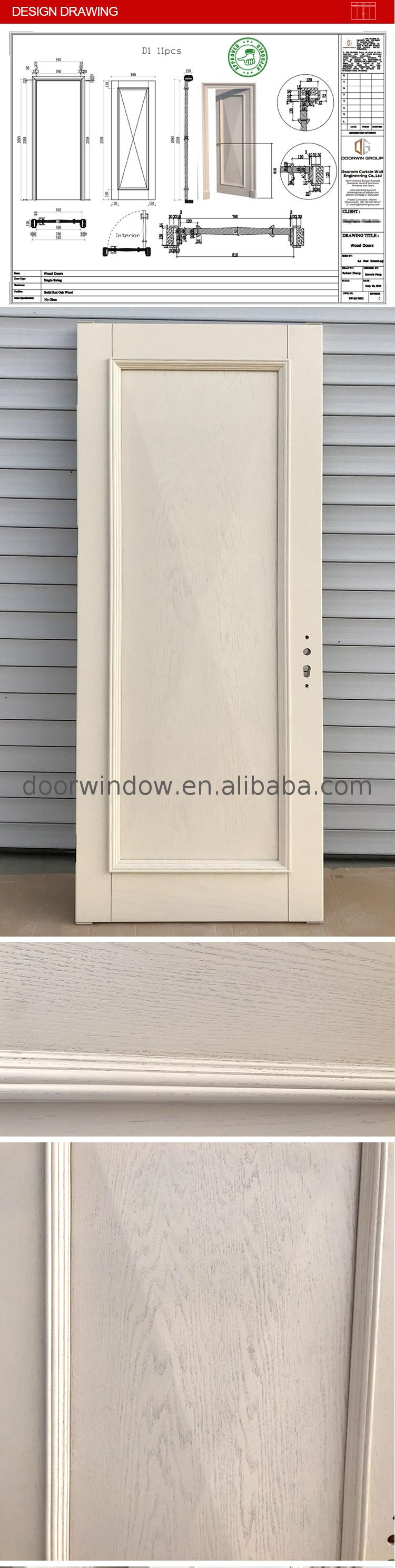 Factory cheap price 3 panel patio door oak internal doors