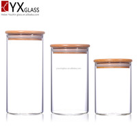 2017 new products for sale round and clear glass hermetic pickle jars
