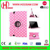 2017 New 360 Rotating Polka Dot Leather Folio Case Cover for ipad mini 2\3