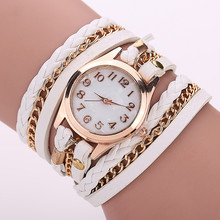 Free Shipping Retro Vintage Women Gold Dial Dress Watches Leather Strap Quartz Wrist Watches