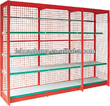 Roof Scarf Shop Fittings Display Racks Wire Mesh Cabinet