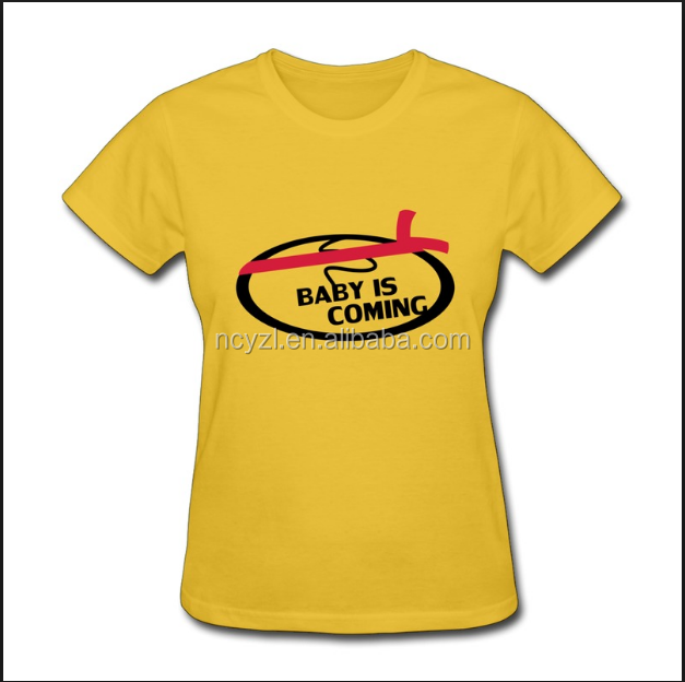 clothes for pregnant women t shirts yellow with printed baby and other styles Tees for women