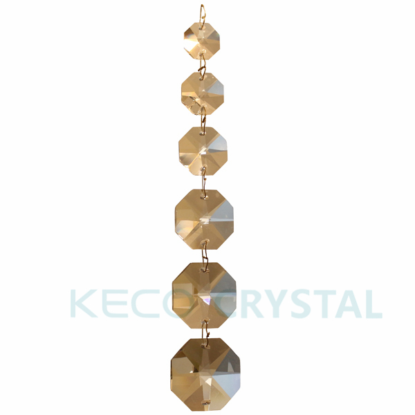 Crystal Beads Strands with brass wire and bow tie hook , keco crystal is work on all kinds crystal bead chain