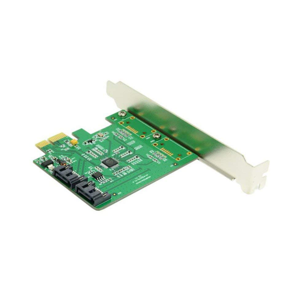 The Low Profile Dual Ports Internal PCI-Express SATA 3.0 6Gb/s Expansion Card Marvell Chipset