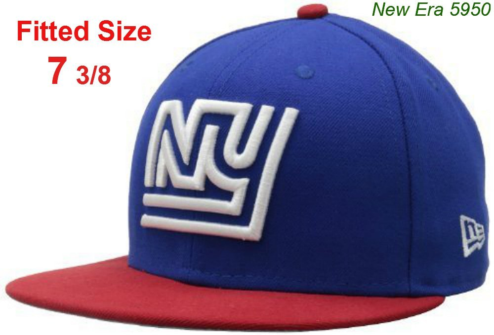 best sneakers 2a046 97c89 Get Quotations · New Era 5950 New York Giants Fitted Size 7 3 8 Hat NFL  Authentic Vintage