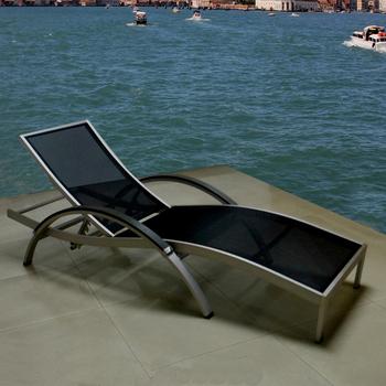 Sedie A Sdraio Da Mare.Spazzolato Alluminio Solarium Salotto Sedia Sdraio Da Spiaggia Buy