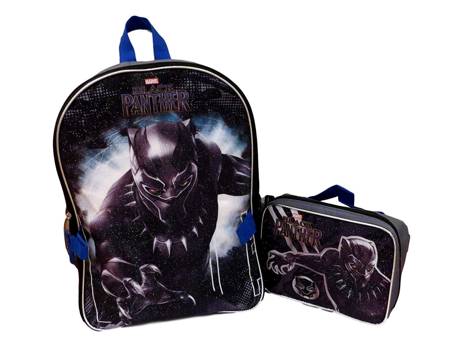 e6207cee7191 Get Quotations · Marvel Black Panther Full Size Backpack With Detachable  Matching Insulated Lunch Box