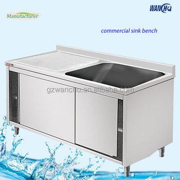 Küche Edelstahl Schrank Waschbecken/Küche Waschmaschine Schrank Mit  Einzigen Schüssel