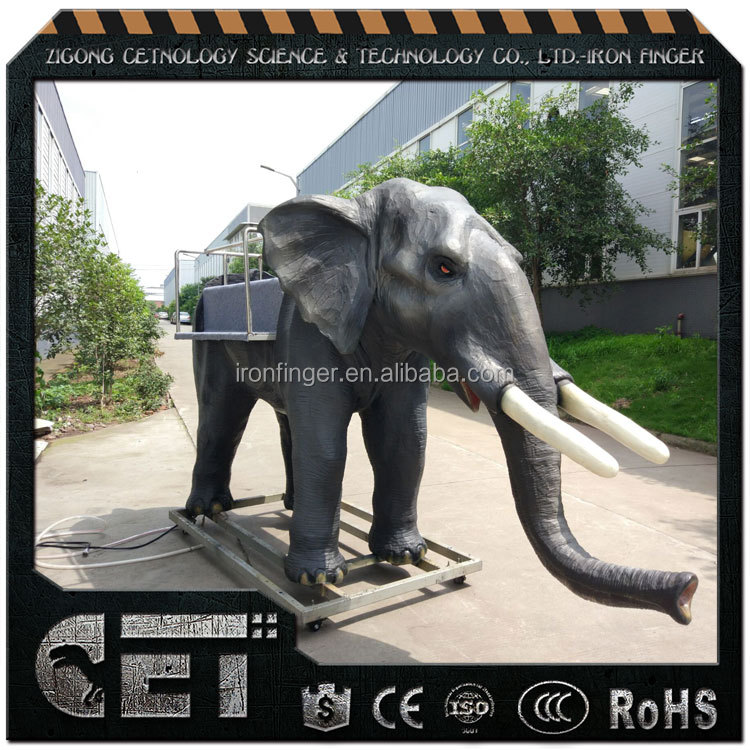 Cet-A-759 animal film life size zoo animal elephant electrical animal figure for video tube