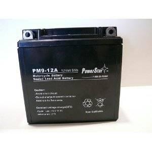 PowerStar 9-B Battery for Yuasa-YB9-B, Yacht-CB9-B, Sears-44356, Power-Sonic-CB9-B,Napa-740-1858, Motocross-M329BY, Interstate-YB9-B.