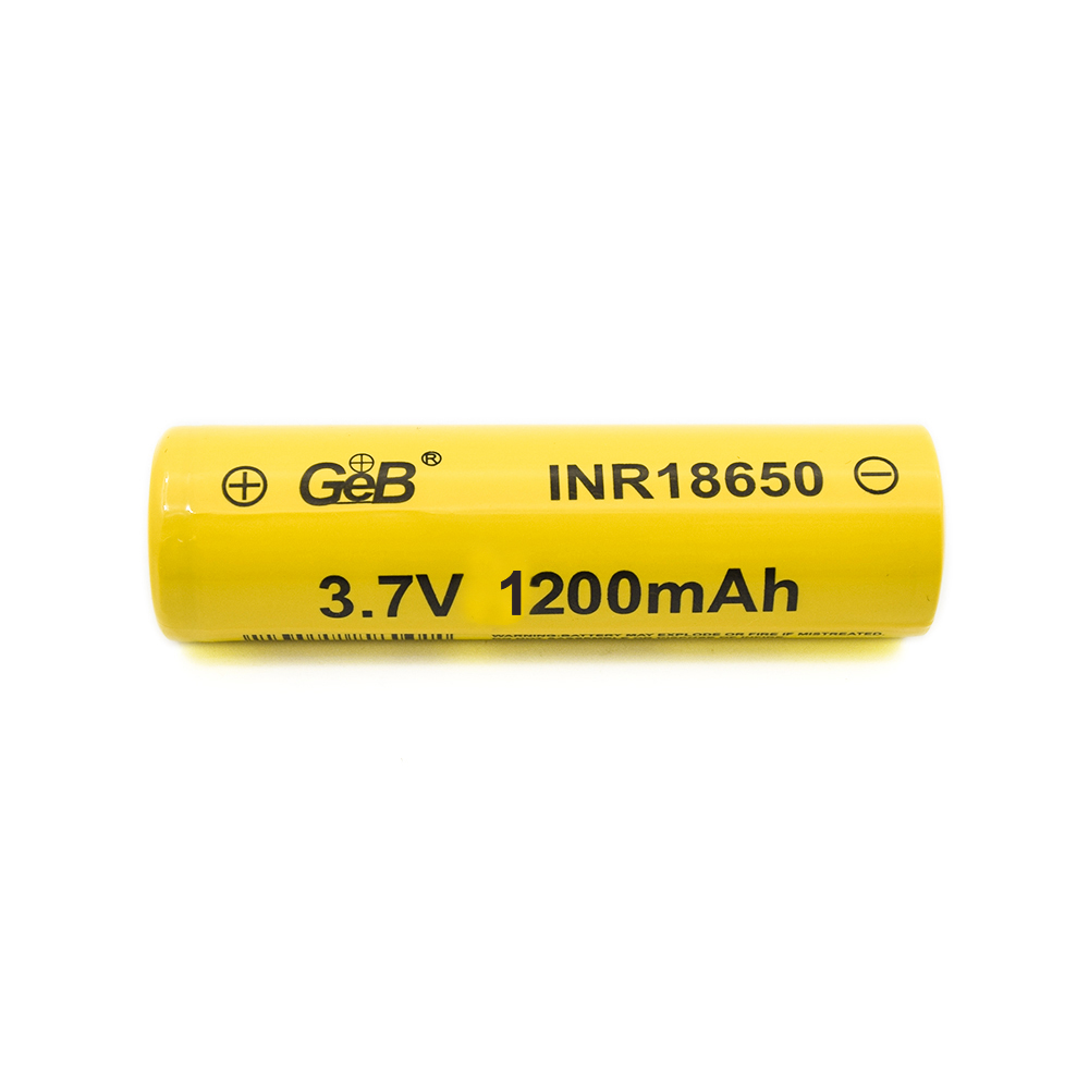 Rechargeable Li-polymer Battery 3.7V 1200mAh for 18650 Lithium Battery