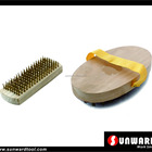 Wooden Block Copper Coated Wire Brush