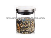Stainless Steel Airtight Lid Glass Canister Wholesale