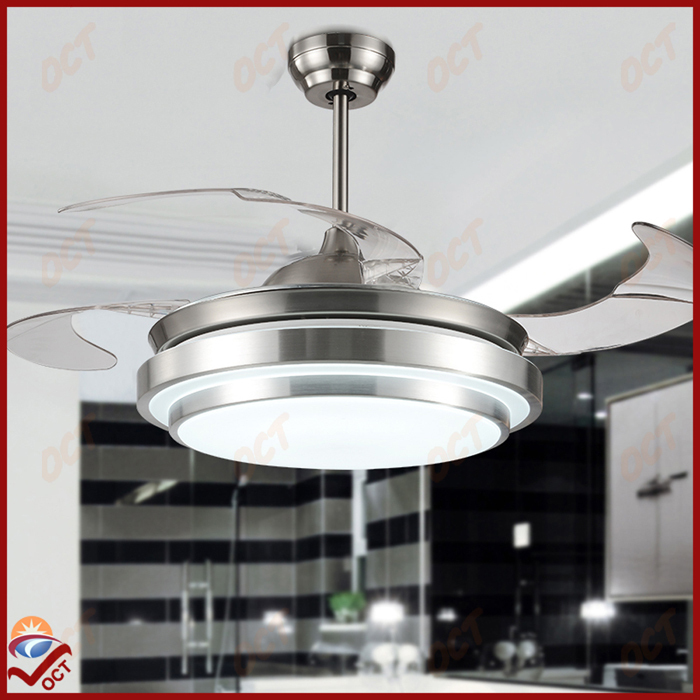 Modern 85 265V Led Quiet Luxury Folding Ceiling Fan Light