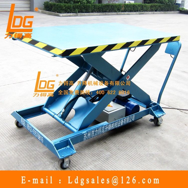 Hydraulic electric mini scissor lift manufacturer with SJY0.3-1