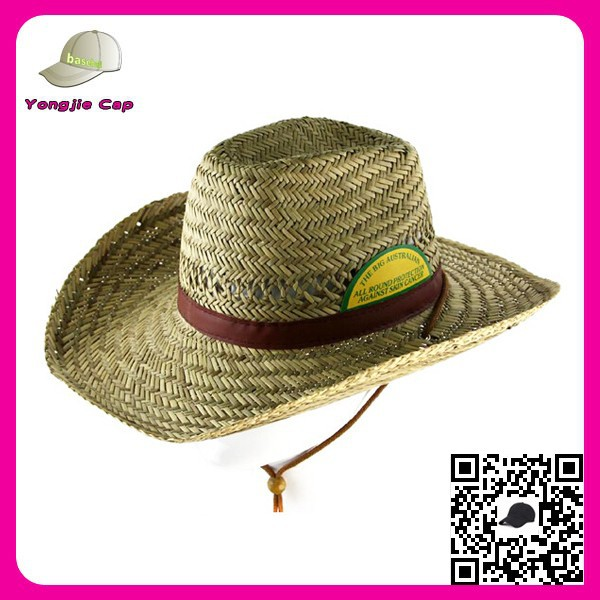 2015 High quality wide brim sombrero made in china custom mexico straw hat for men