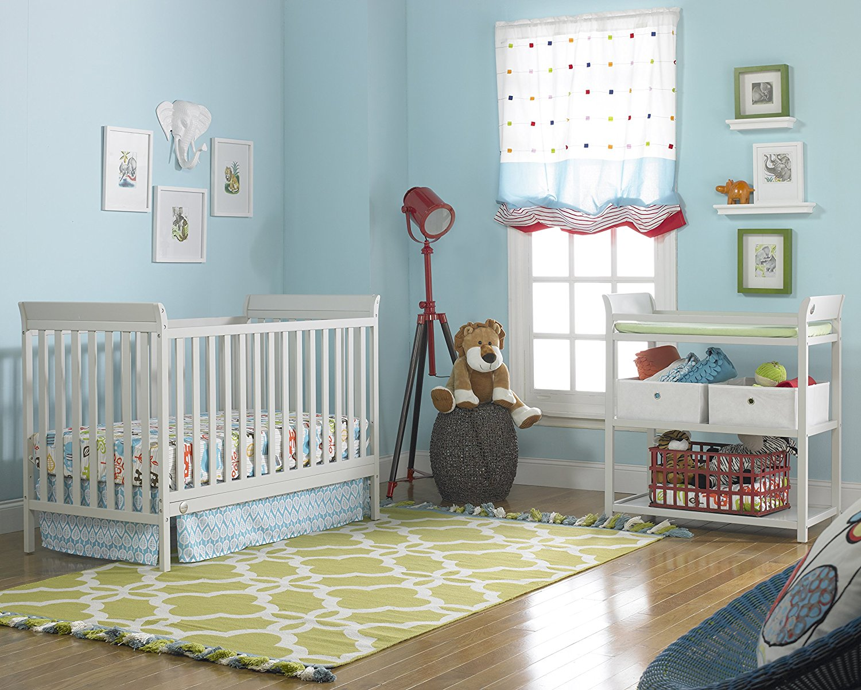 Fisher Price 6 Piece Nursery Furniture Bundle Misty Grey