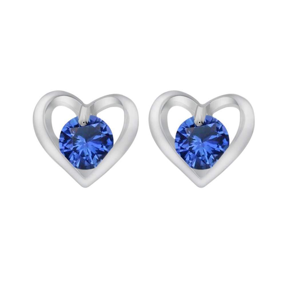 Gemstar Jewellery Pink Sapphire /& White Simulated Diamond Wedding Cluster Flower Stud Earrings