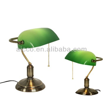 European antique bank table lamp green glass brass metal bank european antique bank table lamp green glass brass metal bank table lamp aloadofball Gallery