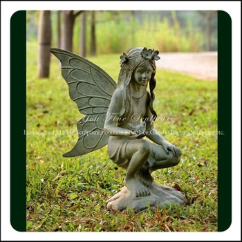 Gentil Casting Antique Bronze Garden Fairy Statue For Sale