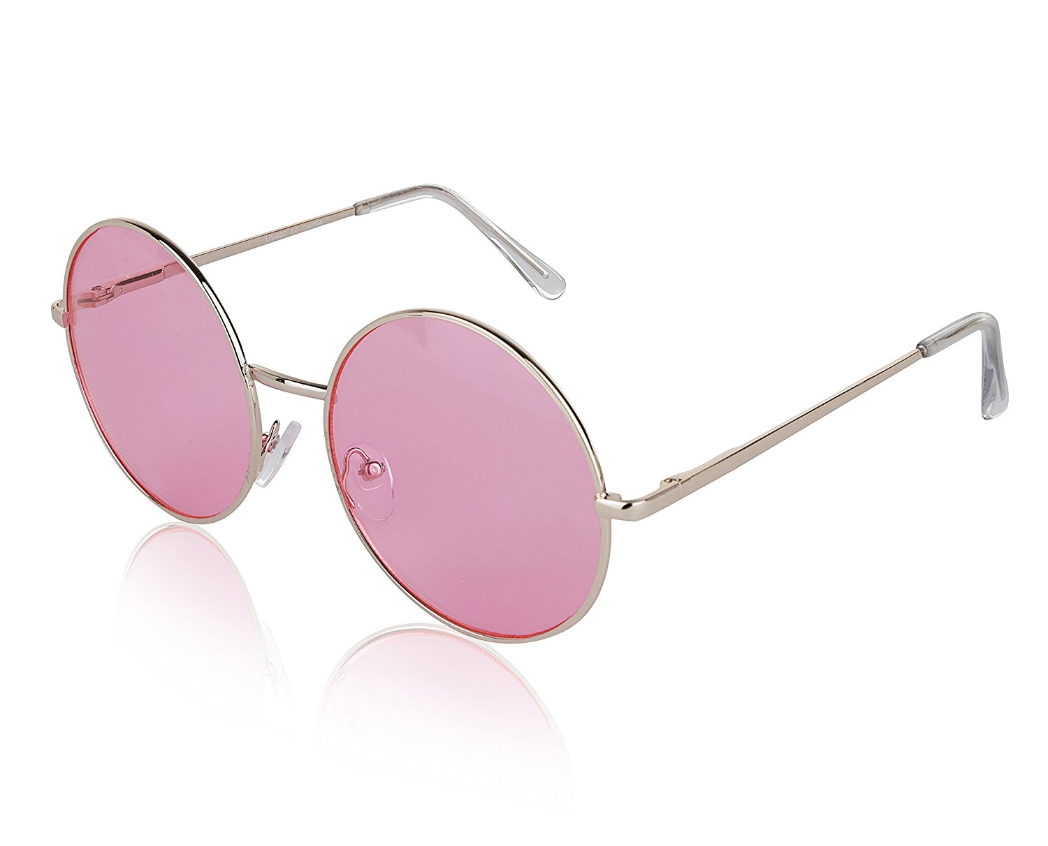 520a99c6b99 Get Quotations · Sunny Pro Round Sunglasses Retro Circle Tinted Lens Glasses  UV400 Protection