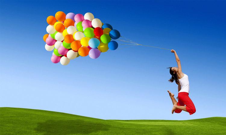 Alza el vuelo como cometa, mariposa, globo de helio...