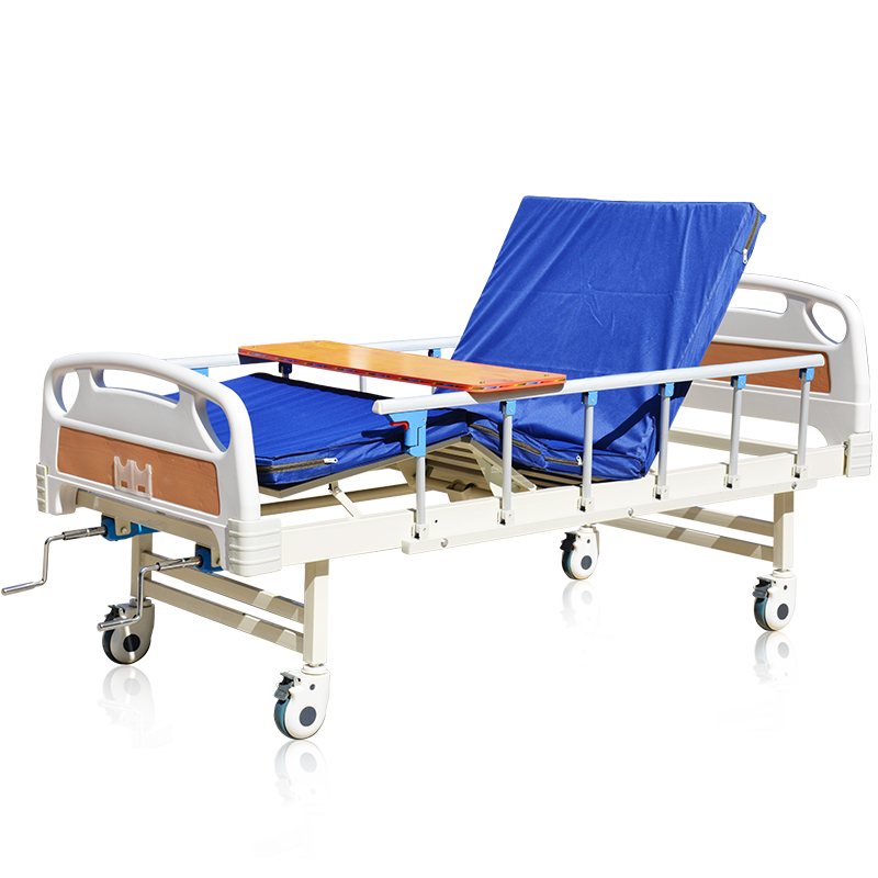 2 cranks double shake steel manual hospital bed hospital bed for paralyzed and bedridden patient of cheap hospital bed prices