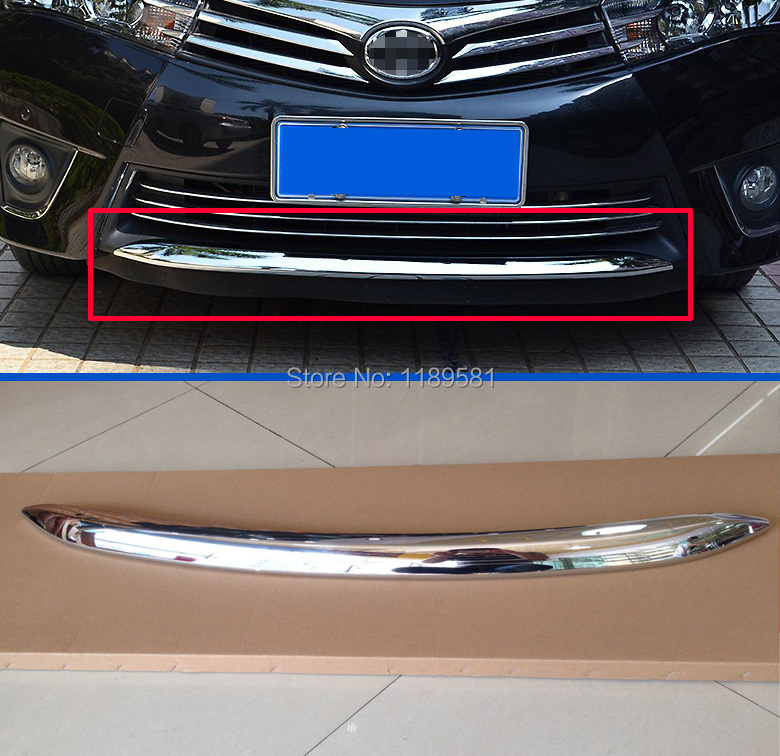 for toyota corolla 2014 2015 2016 abs chrome front bumper cover trim in chromium styling from. Black Bedroom Furniture Sets. Home Design Ideas