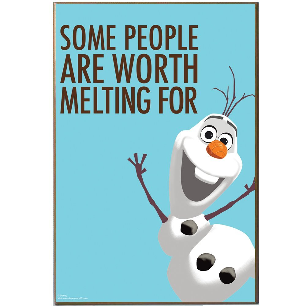 "Silver Buffalo DQ2136 Disney Frozen ""Olaf Quote"" Wood Wall Art Plaque, 13 by 19-Inch"