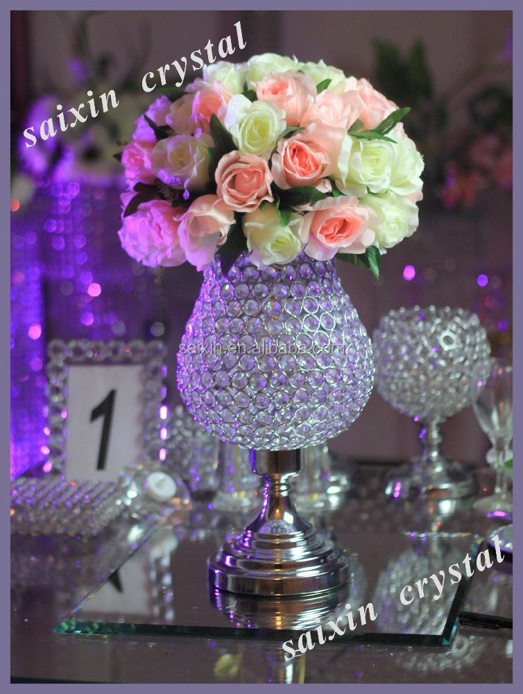 Cheap Wedding Flower Ball With Crystal Vase - Buy Decorative ...