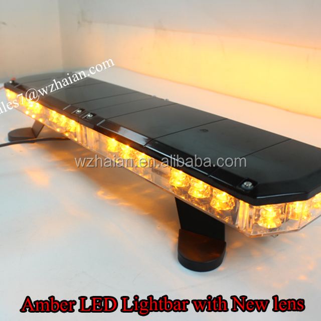 low profile amber led strobe mini lightbar tbdga812 4e