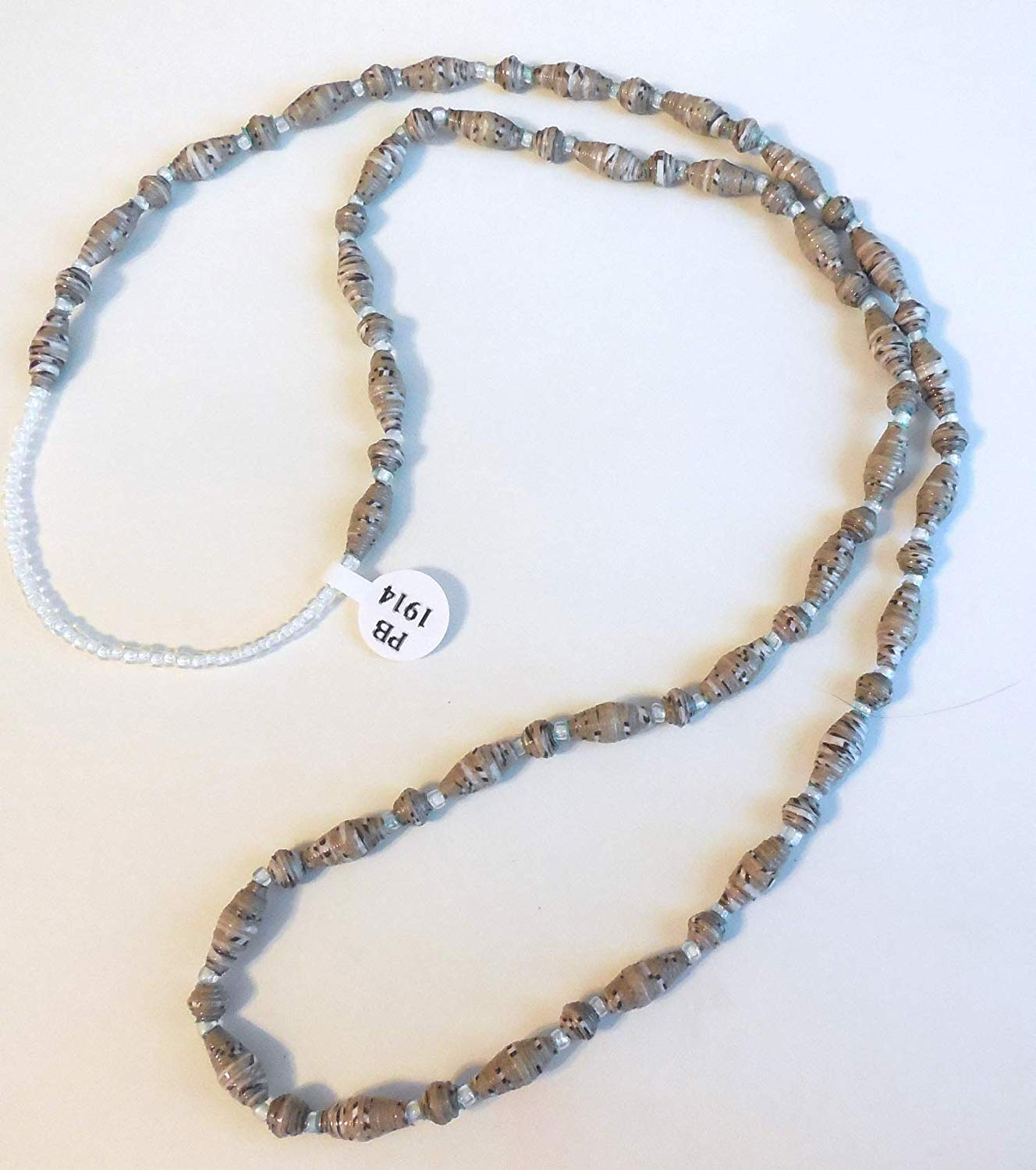 Paper Bead Necklace Handmade PB 1914