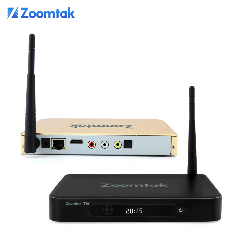 Zoomtak T5 Amlogic S805 quad core xbmc /KODI pre-installed android 4.4 tv <strong>box</strong> 1080p full hd <strong>media</strong> player arabic iptv <strong>set</strong> <strong>top</strong> <strong>box</strong>
