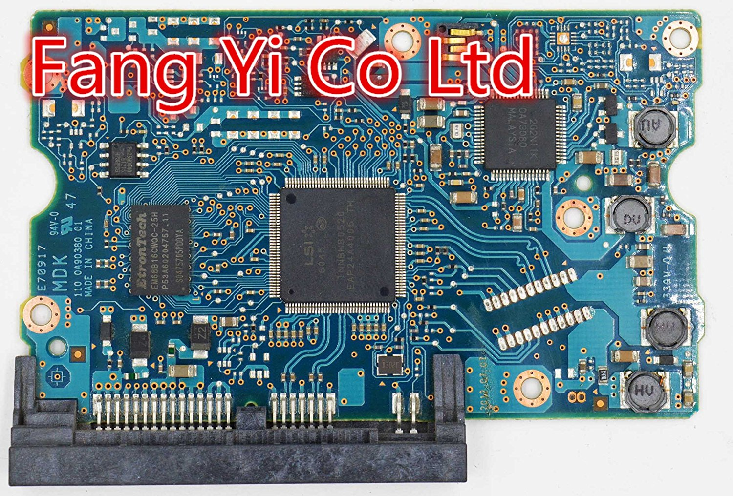 Toshiba HDD PCB /Logic Board/220 0A90380 01 Main Controller IC: LSI 6045 /Stickers:9F10781,0J24069,9F10779 /DT01ABA300 , DT01ABA200
