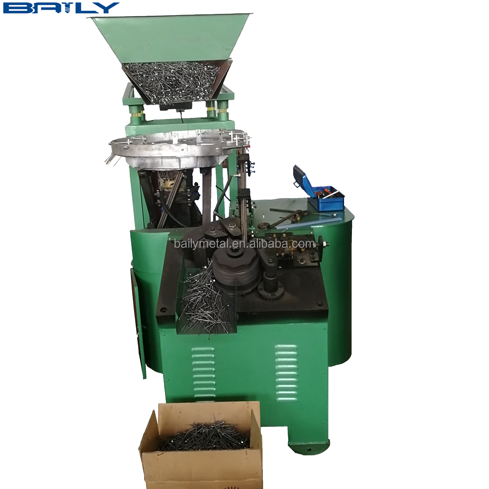 BAILY Supply Automatic coil nail making machine CE Certification Usde Thread Rolling Machine Price