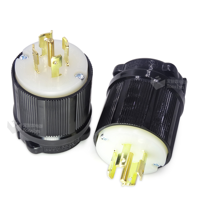NEMA L21-30 Plug en Connector Set-Rated voor 30A, 120/208 v, 5-Draad, 4 Pole