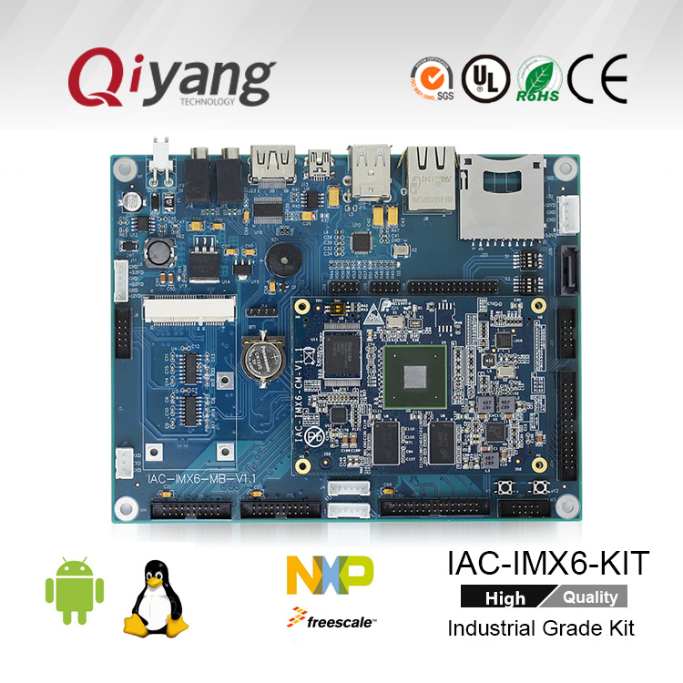 Freescale ARM Linux embedded hardware development board for 3-ch Ethernet