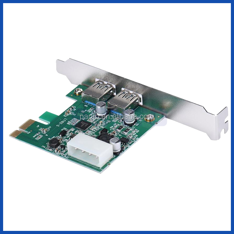 USB 3.0 Cards 2 Ports PCI Express Controller Converter up to 5Gbps for Desktop