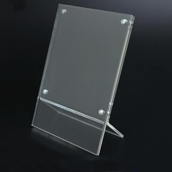 Mini Clear Acrylic Photo Frame Picture Holder With Magnets