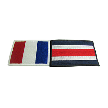 Custom cheap small flag sew-on or iron-on embroidery patches