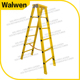 New coming yellow fiberglass 6 step customized insulated frp step ladder
