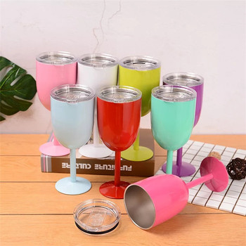10 oz double wall stainless steel drinking cup vacuum wine cup