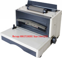 NanBo EC8706 Factory Cheapest Price Electric Punch Electric Bind Plastic Spiral Wire Binding Machine