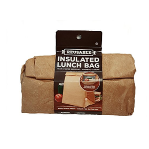 Magnetic Closure Recycle Eco-friendly Waterproof Tyvek Kraft Paper Snack Insulated Fitness Cooler Lunch Bag