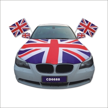England flag accept customised high quality custom flag car engine hood
