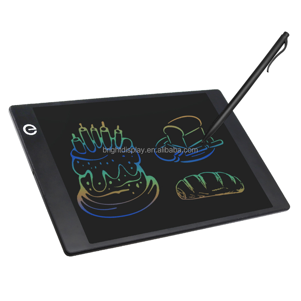 2017 new magnetic 9.7 inch erasable diy drawing digital LCD Writing table pad board with color writing eye protection