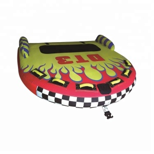 Wholesale 2 or 3 Rider Inflatable Towable Tube for Lake Water Sports