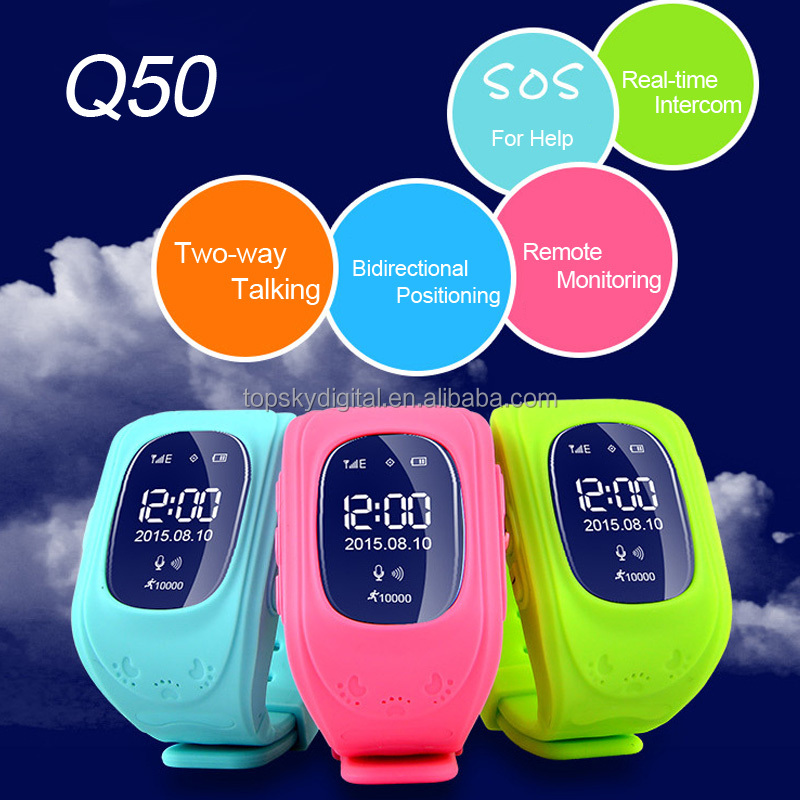 Touch Screen Kids Smart Watch Q50 Kids GPS Watch GSM GPRS GPS Locator Tracker Anti-Lost