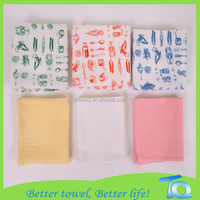 China Supplier Bulk Sell Solid Color Cotton Kitchen Towels Print Pattern