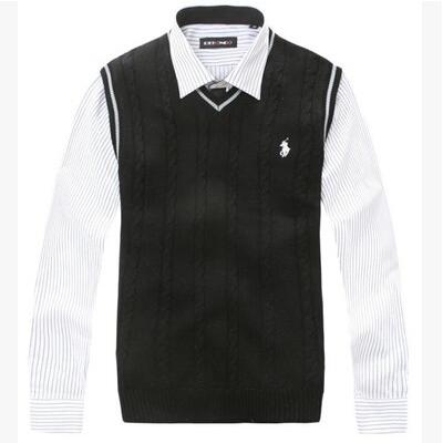 Весна мужчины в жилет осень зима без рукавов свитер жилет жилет с v-образным вырезом пуловер жилет